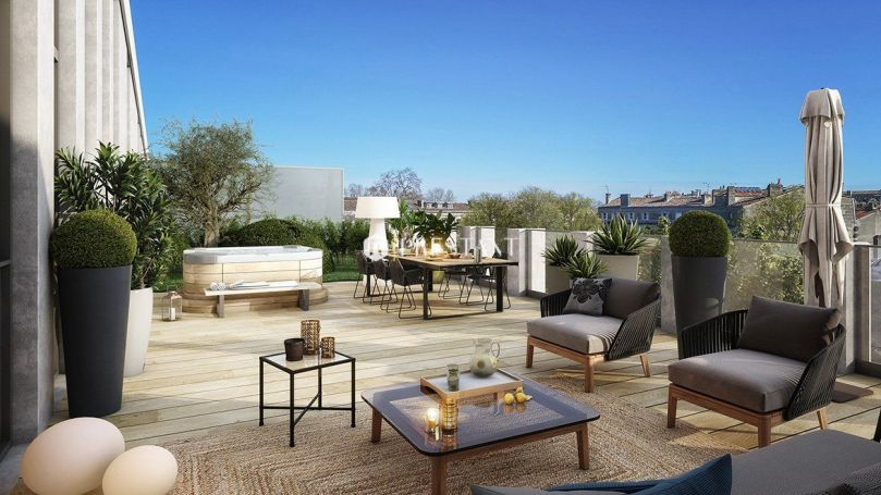 APPARTEMENT DE PRESTIGE T3 96 M2 TERRASSE  BORDEAUX